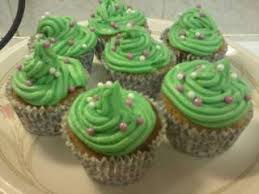 Christmas Tree Cup Cakes Recipe