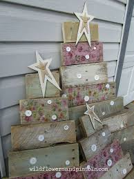 Pallet Wood Christmas Trees Decorations Painted Furniture