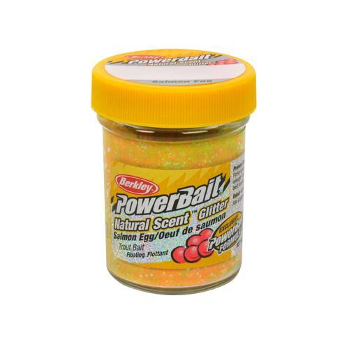 Berkley (Salmon Egg, Rainbow) - PowerBait Natural Glitter Trout Bait