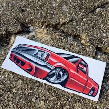 100 Mini Truck Stickers Low Label Bagged Mazda Low Label