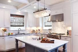 Pottery Barn Kitchen Ceiling Lights by Clarissa Crystal Drop Extra Long Rectangular Chandelier With Gray