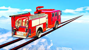 100 You Tube Fire Truck EXTREME MILE LONG FIRE TRUCK TIGHTROPE GTA 5 Races 333Gamescom