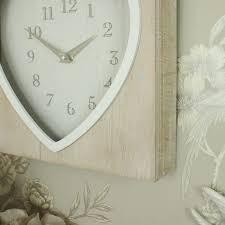 Rustic Heart Wall Clock