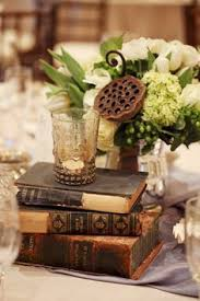 Seattle Wedding By Kate Price Photography Vintage Book CenterpieceBook