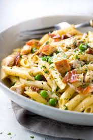 One Pan Chicken Carbonara Penne Pasta A Comforting Classic Italian Recipe Tender