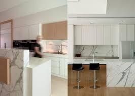 peinturer un comptoir de cuisine comptoir de cuisine en bois gris élégant dosseret verre lisse