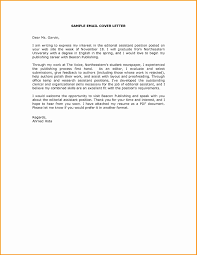 Cover Letter Email Sample New Covering For Submission Documents Inspirational Sending