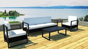 canapé de jardin design awesome salon de jardin aluminium azua noir contemporary amazing
