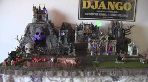Lemax Halloween Village Displays by My Spooky Town Setup For 2013 Youtube