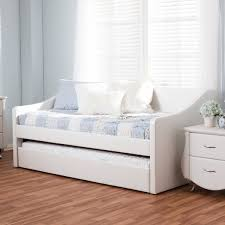 Baxton Studio Kallikrates Modern Daybed with Trundle Bed Free