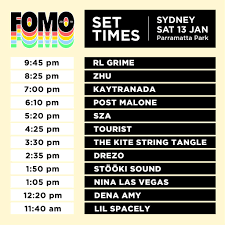 FOMO 2018 Set Times