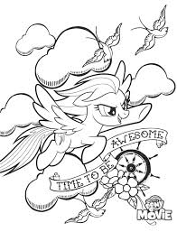 Edge My Little Pony Coloring Pages Rainbow Dash Awesome