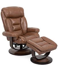 Eve Leather Recliner with Ottoman Furniture Macy s