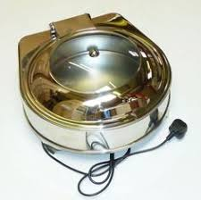 Display Electric Chafing Dish Round Soft Close Lid Cb729