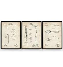 details zu küche set mit 3 lack aufdrücke poster wandkunst esszimmer raum dekor
