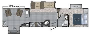 Raptor 5th Wheel Toy Hauler Floor Plans by Used 2010 Keystone Rv Raptor 3602rl Toy Hauler Fifth Wheel At