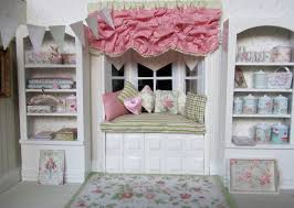 Pink Ruffled Window Curtains by Interior Interesting Home Interior Decoration Using Light Green