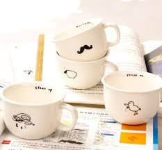Mustache Cloud Bird Sheep Marks MugCute Minimalist Design Mug Designs Ceramic Breakfast Coffee Mugs In From Home Garden On Aliexpress