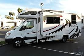 Exterior 2013 Mercedes Sprinter Class C RV With Private Bedroom Cab Bed And Small