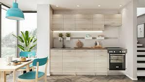 neu küche küchenzeile mela 180 240 cm eiche sonoma mit arbeitsplatten