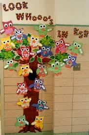 Kindergarten Christmas Door Decorating Ideas by Classroom Decorating Ideas Added My Owls To The Outside Wall My