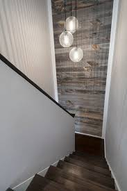 Cool Sonneman Lighting In Staircase Modern With Reclaimed Wood Accent Wall Next To Walls Alongside Stikwood And Credit