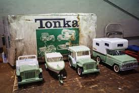 Dolls, Trucks Part Of The Antiques Displayed At Kalamazoo Toy Show ... Old Tonka Toy Jeep Dump Truck Collectors Weekly Tonka Trucks Toysrus Kustom Make Vintage Toy Truck 2500 Via Etsy Old Time Toys Ideas 1950s Toys Dump Pressed And 50 Similar Items Classic Steel Stake Farm Wwwkotulascom Free Rc Adventures Radio Controlled 4x4 Ming Youtube Cars Bottom Check Out The Mighty Ford F750 The Fast Lane