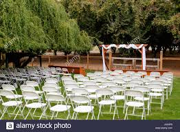 Wedding Venue Chairs And Ceremony Seating Stock Photo ...