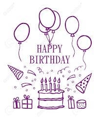 Happy birthday doodle elements Vector Stock Vector