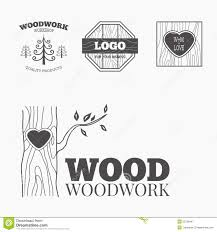 Wood Products Logo Vector Royalty Free Stock Photography