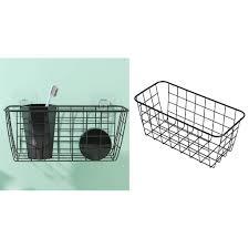 badezimmer wandbehang aufbewahrungskorb regal rack holder organizer schwarz modern gitter 28 5 x 12 5 x 12 5 cm