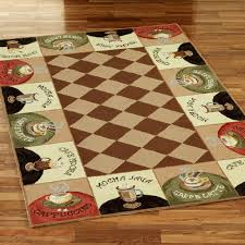 Image Of Coffee Themed Kitchen Decor Rug
