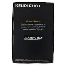 Laughing Man Keurig Hot Dukales Blend Medium Roast Coffee K Cup Pods 45 Oz 16 Count