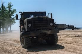 100 Army 5 Ton Truck Front View Of An M923 Ton Truck Is Demonstrated During The
