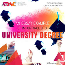An Essay Example Of Importance Of A University Degree ATMC