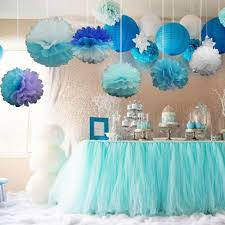 Online Shop 10pcs Pack 15cm20cm Mixed Colors Tissue Paper Pom Poms For Baby Frozen Birthday Party Ideas Wedding Decoration
