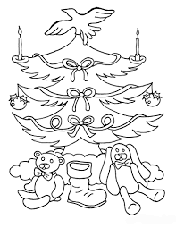 Christmas Tree Coloring Page Print Out by Kids Under 7 Pine Trees Coloring Pages