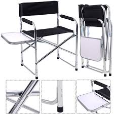 Folding Director's Chair With Side Table | Chairs | Folding ...