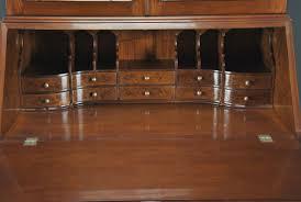 Drop Front Secretary Desk by Burled Secretary Desk W Top