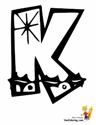 Christmas Coloring Pic Of Letter K At YesColoring