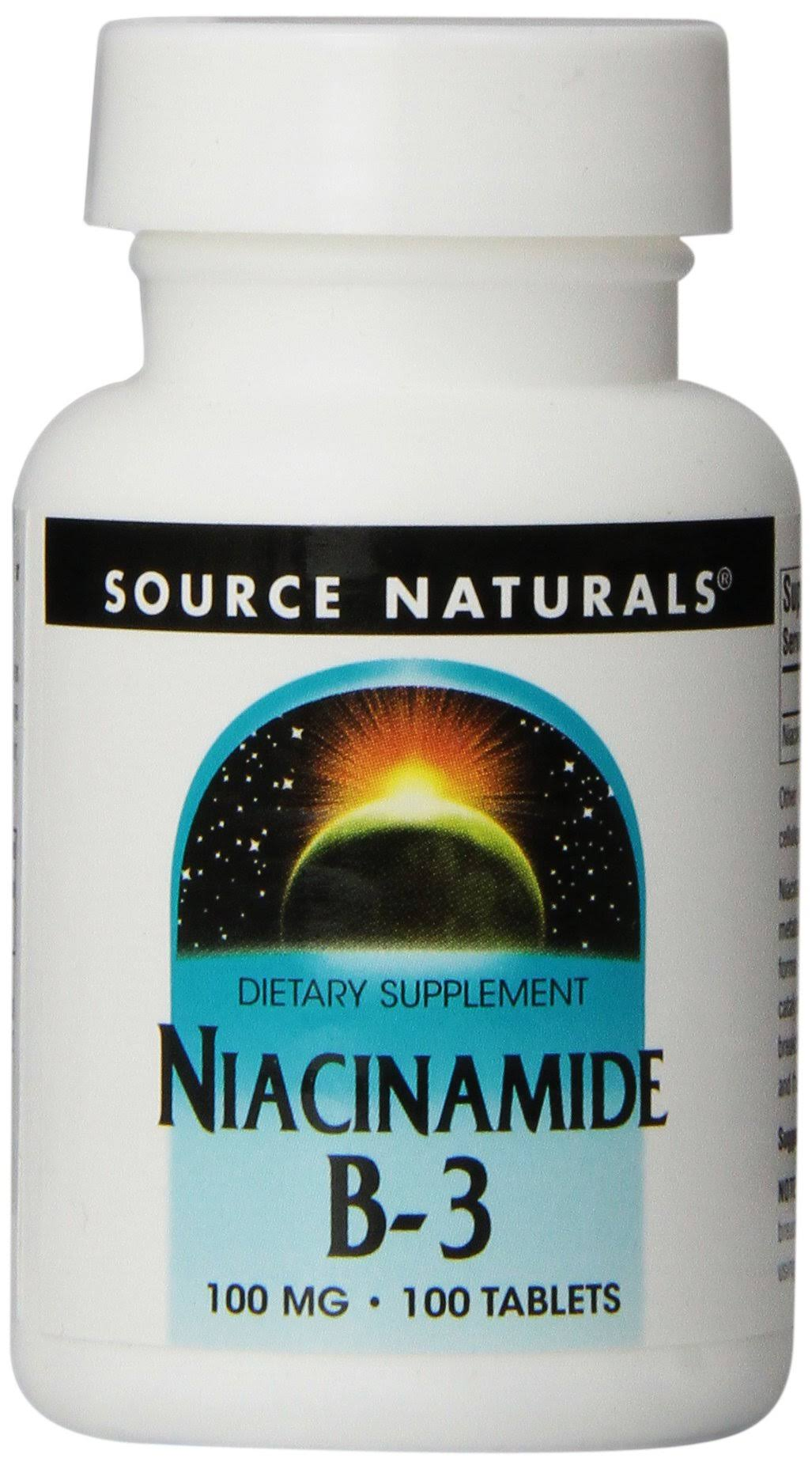 Source Naturals Niacinamide Dietary Supplement - 100 Tablets