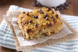 e Bowl Chocolate Chip Zucchini Bars Recipe from A Kitchen Addiction