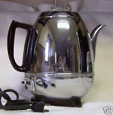 1950s GE General Electric Pot Belly Coffee Percolator