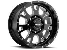 100 4x4 Truck Rims SOTA Wheels Death Metal Brawl 20x12 8x180 51mm Black Milled