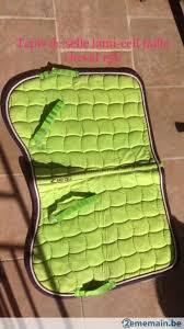 tapis de selle vert pomme lami cell taille cheval a vendre