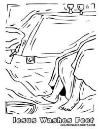 Jesus Washes The Disciples Feet Coloring Page PagesBible