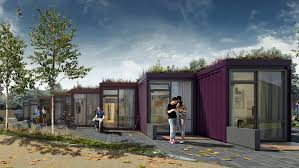 100 Sea Container Accommodation Shipping Container Micro Homes With Green Roofs Planned For UK