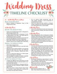 Awesome Wedding Dress Planning Timeline Download Free Printable Checklist