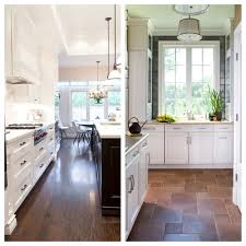 poll wood floors in the kitchen