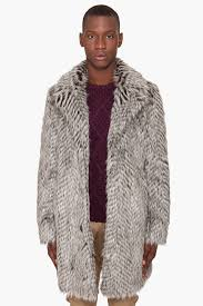marc by marc jacobs ricky racoon fur coat in black for men lyst
